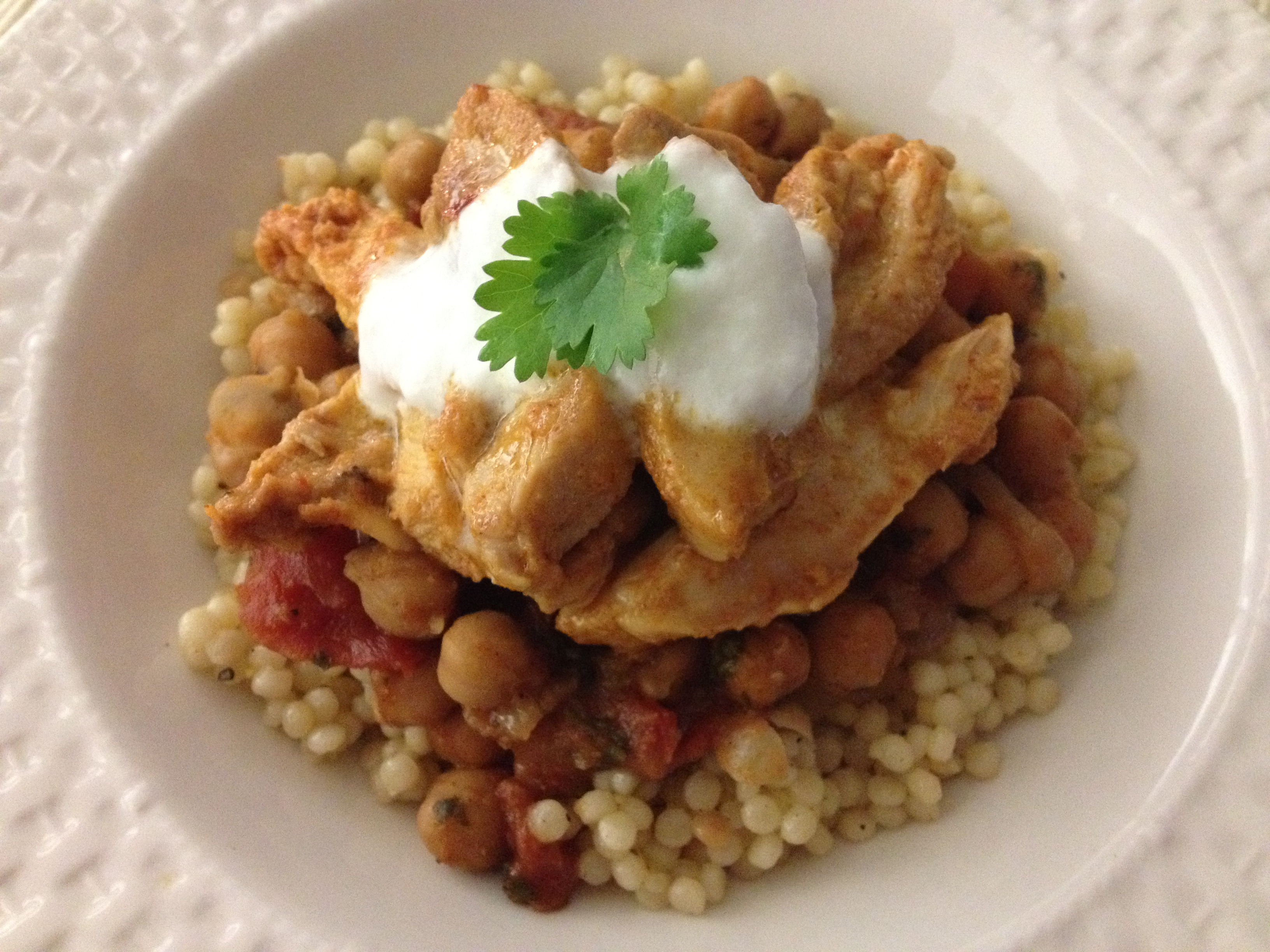 A Simple Chicken Tagine, With Chickpeas And Mint Recipe ...